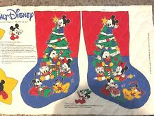 "Disney Babies Sew Quilted Fabric Panel Christmas 15"" Stocking and Ornaments"