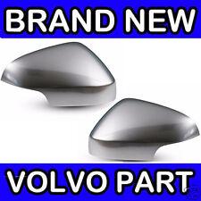 Volvo S40, V50 (10-12) Matt Chrome Aile Porte Miroir Couverture Arrière Douilles (paire)