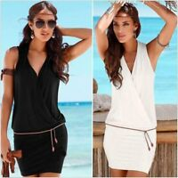 Summer Womens Sexy Bodycon Casual Dress Ladies Evening Party Cocktail Mini Dress