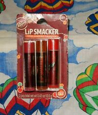 NEW LIP SMACKER DR PEPPER A & W 7UP 3 PACK SEALED .42 OZ. (12.0 G)