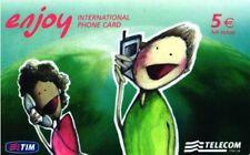 1313 C&C 6198 SCHEDA TELEFONICA INTERNAZIONALE USATA ENJOY EJE 31.12.2008