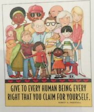 Mary Engelbreit Artwork-Give To Every Human Being-Handmade Magnet