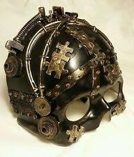 Steampunk Victorian Masquerade Mask Skull-Cyborg Style, Quality Detailed Costume