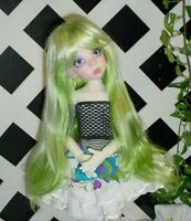 """Doll Wig, Monique Gold Adorabel """"Pixie"""" Size 5/6 in Jade Green (with bangs)"""