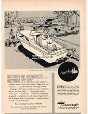 1962 BUEHLER Turbocraft Jet 36 Cruiser Boat art Vtg Print Ad
