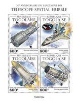 Togo Space Stamps 2020 MNH Hubble Telescope Launch 30th Anniv Telescopes 4v M/S