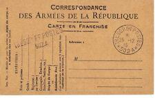 FRANCE 1915 TROUPE FRANCAISE EN ORIENT ARMY TRESORE ET POSTES 502A POSTAL CARD