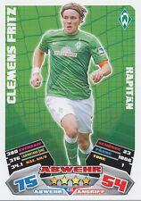 CLEMENS FRITZ # DEUTSCHLAND WERDER BREMEN CARD MATCH ATTAX BUNDESLIGA 2013