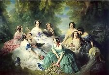 Empress Eugenie Surrounded By Ladies In Waiting~counted cross stitch chart #1631