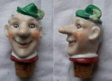 Schnapsausgießer Porzellan Kopf Ausgießer Mann