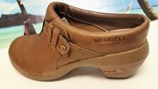 MERRELL Pro Womens Leathe Taupe/Tan Clog Primo Shoes - Comfort Walking - Sz 8