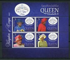 Tonga 2017 MNH Queen Elizabeth II Sapphire Jubilee 4v M/S Royalty Stamps