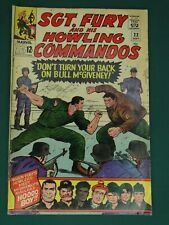MARVEL COMICS GROUP SGT. FURY AND HIS HOWLING COMMANDOS #22 9/1965- SWEET COPY!!