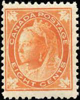 1897 Mint H Canada F+ Scott #72 8c Queen Victoria Issue Stamp