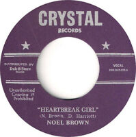 "Noel Brown - Heartbreak Girl / Man's Temptation  7"""