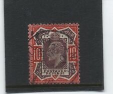 1911 10d DULL PURPLE & ANILNE PINK BY SOMERSET HOUSE SUPERB USED. SG 310