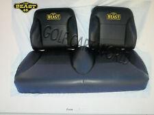 Golf Cart Seats-Front Cushions-EZGO TXT-Custom Hi-Back-black with Beast logo