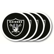 Oakland Raiders NFL Vinyl Coasters (4 Pack), FREE SHIPPING