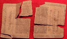 1777 Pennsylvania Colonial Currency 3 Shillings Damaged Note