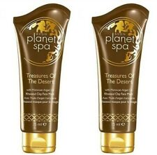 2 x AVON Planet Spa Treasures Of The Desert Rhassoul Clay + Argan Oil Face Mask