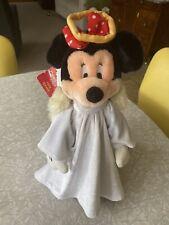 Vintage Disney MINNIE MOUSE Angel Christmas Tree Topper Figurine NEW