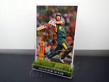 ✺Signed✺ MATTHEW WADE Photo & Frame PROOF COA Australia 2018 Shirt Cricket