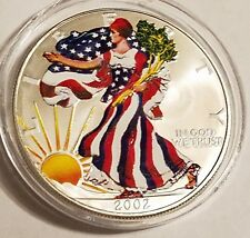 2002 1 oz Silver American Eagle (Brilliant Uncirculated) painted