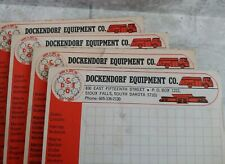 Lot 4 Vtg DOCKENDORF Equipment Co SIOUX FALLS SD Advertising Note Pads Graphing