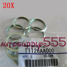 20PCS Oil Drain Plug Crush Washer Gaskets For11126AA000 Subaru 1985-2016