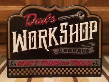 Dads Workshop Garage Metal Vintage Style Batterie Tire Texaco Mobil Wall Decor