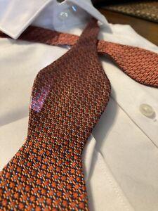 Ted Baker Bow Tie London Multi Color 100% Silk Narrow
