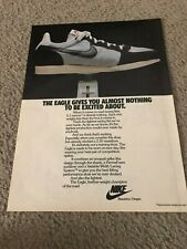 "Vintage 1980 NIKE EAGLE Running Shoes Poster Print Ad RACING ""ALMOST NOTHING"""