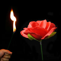 New Close Up Magic Torch Rose to Fire Tricks Flame Appearing Flower Trick Props