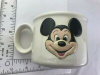 Vintage Ceramic Mickey Mouse  Walt Disney productions 3-D Mug Cup Very Old