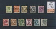 LM34486 Belgium 1941 precancels heraldic lion fine lot MNH cv 195 EUR