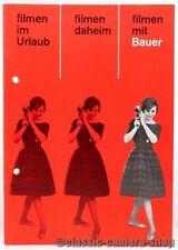 Bauer Prospekt BAUER 88F 88G 88H 88L Zubehör Schmalfilmkamera Broschüre (X2186