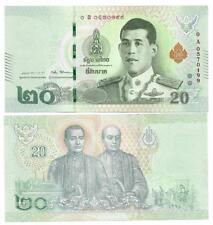 THAILAND 20 BAHT 2018 UNC KING RAMA X P NEW