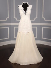 AUTHENTIC  St. Pucchi Mia Z300 Wedding Dress Ivory Lace 4 RETURN POLICY