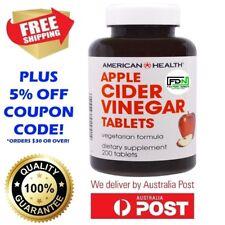 New American Health - Apple Cider Vinegar 480 mg 200 Tablets NATURAL DETOX DIET