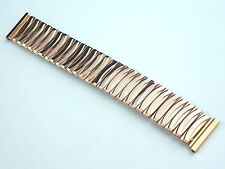 Vintage NOS Extra Wide EE Ebert Pink Rose 10KGF Scalloped Watch band 19mm 3/4 in