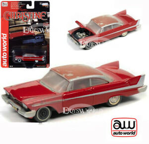 """AUTOWORLD 1:64 1958 RED PLYMOUTH FURY CHRISTINE """"PARTIAL RESTORED"""" Vers. AWSP039"""
