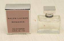 RALPH LAUREN ROMANCE  EAU DE PARFUM  7 mL / 0.25 FL. OZ  splash BNIB