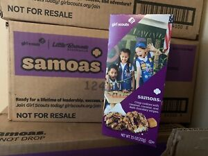 CASE of 2021 *GIRL SCOUT* SAMOAS *COOKIES - 12 BOXES * Free Shipping *