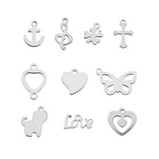 200pcs/Lot Mixed Shaped 304 Stainless Steel Pendants Charm 10~18x7~17x1mm