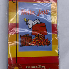 "Peanuts 'Hello, Fall� Snoopy Fall Garden Flag 12""X 18"""