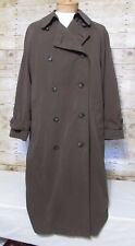 Ralph Lauren men's size 48 R coat olive lined double breasted trench rain