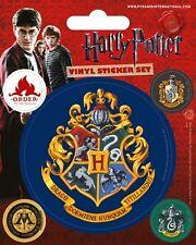 Vinyl Sticker / Aufkleber-Set HARRY POTTER - Hogwarts 1x 7,5cm 4x 2cm PS7224 NEU