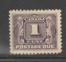 Canada Sc J1a  1924 1c Postage Due Thin Paper Variety XF UMM MNH