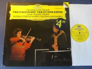 NM MENDELSSOHN / BRUCH - VIOLIN CONCERTOS LP, BPO, Mutter, Karajan, DG 2532 016