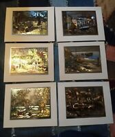 "Vintage Lot Set of 6 - 7.5 by 5.75"" 8x10 Lionel Barrymore Etching Free Shipping"